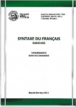 Syntaxe du français, exercices