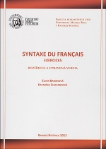 Syntaxe du français - Exercices