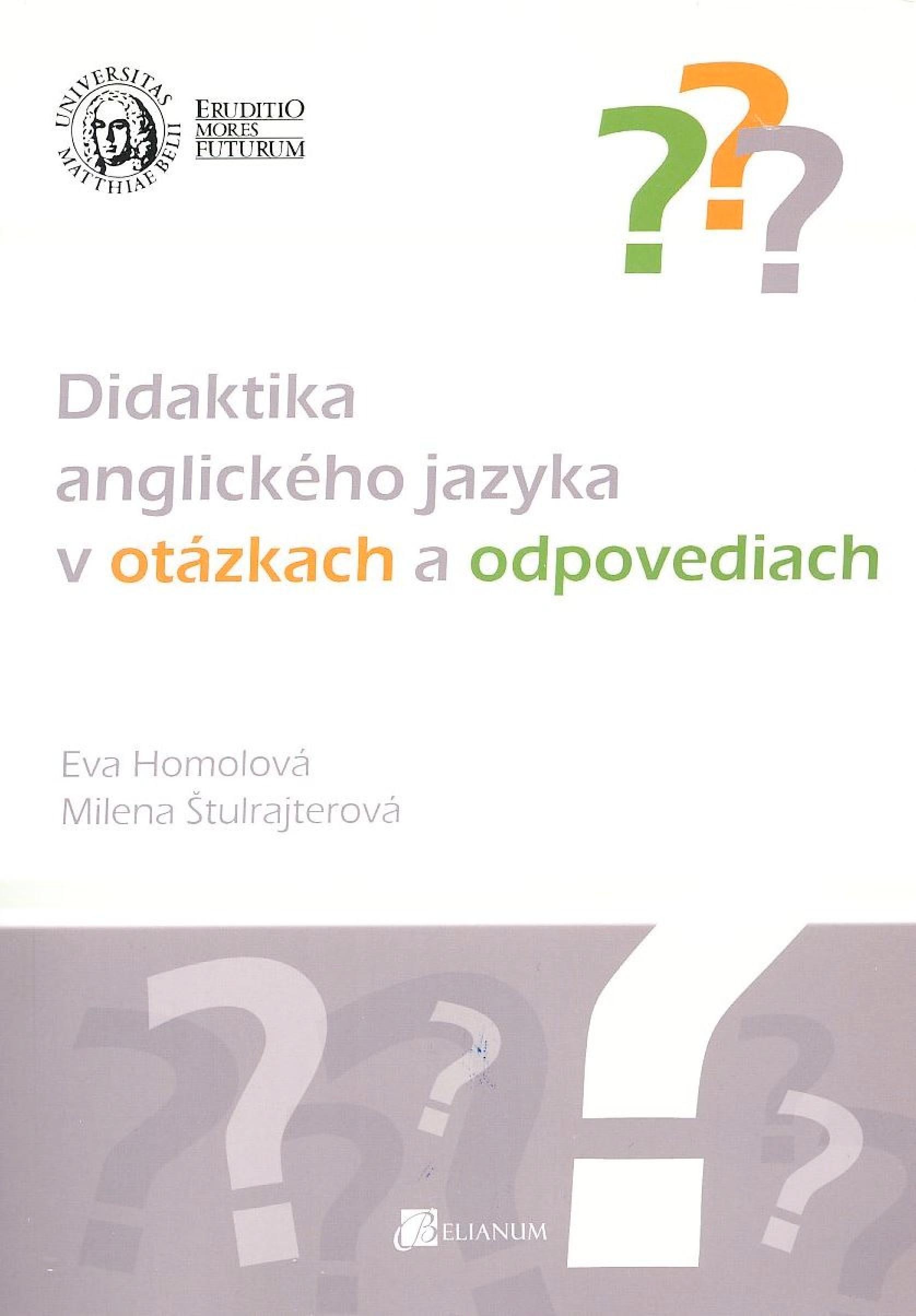 Didaktika anglického jazyka v otázkach a odpovediach