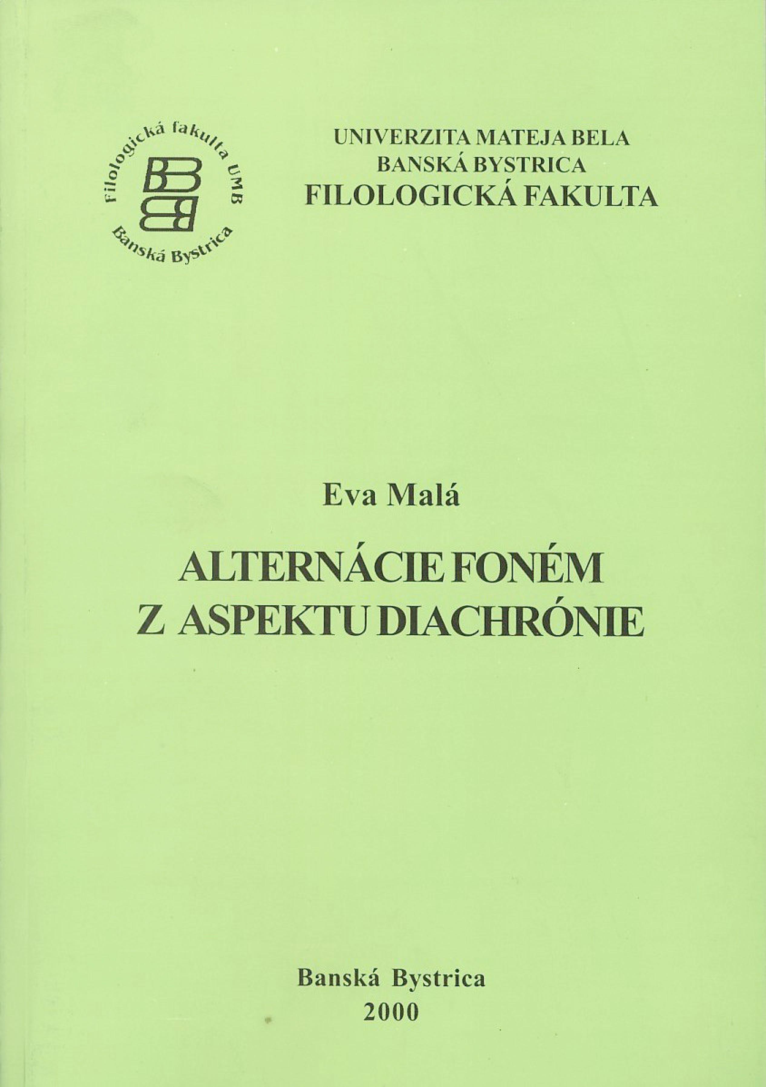 Alternácie foném z aspektu diachrónie