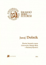 Juraj Dolník – Doctor honoris causa UMB
