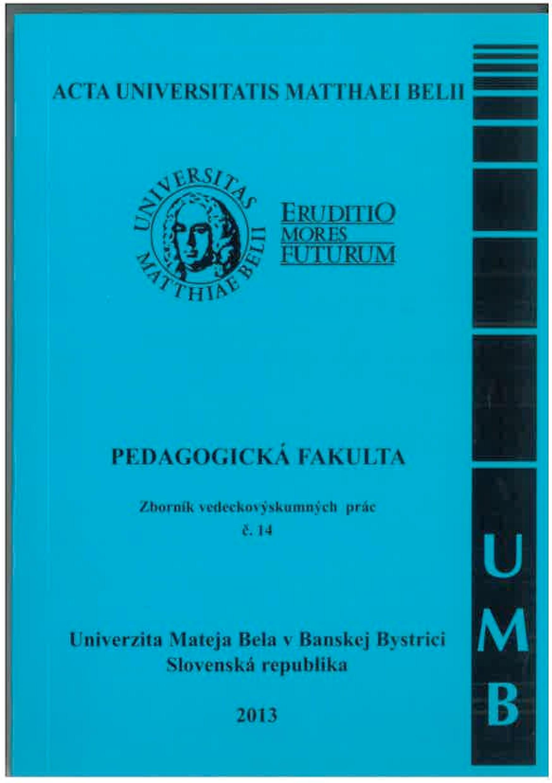 Acta Universitatis Matthaei Belii č. 14