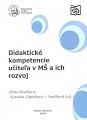 Didaktické kompetencie učiteľa v MŠ a ich rozvoj