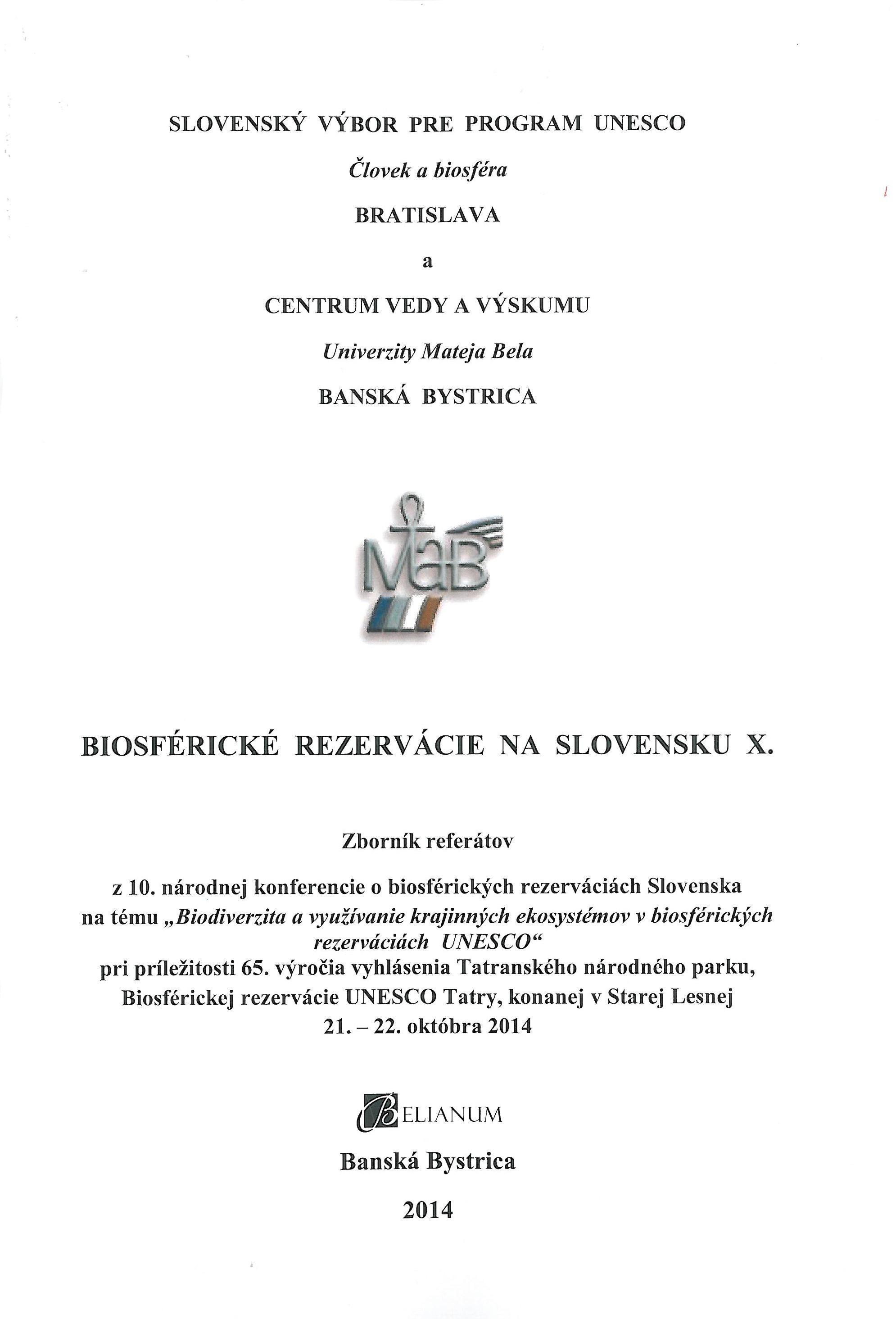 Biosférické rezervácie na Slovensku X.