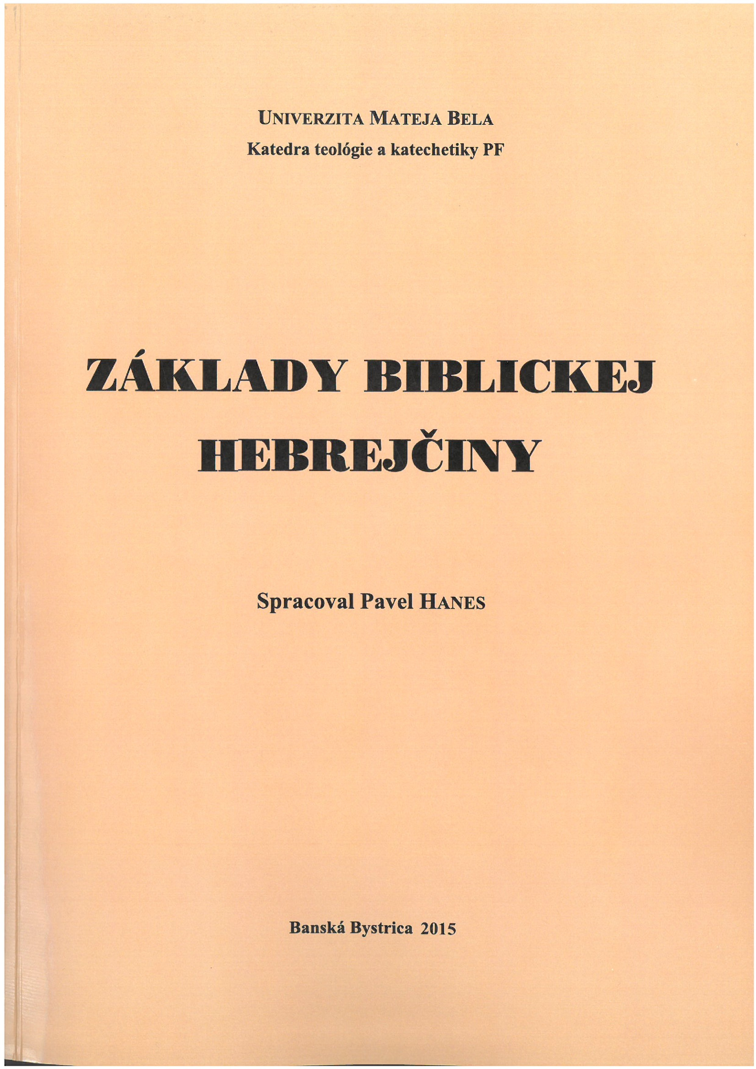 Základy biblickej hebrejčiny