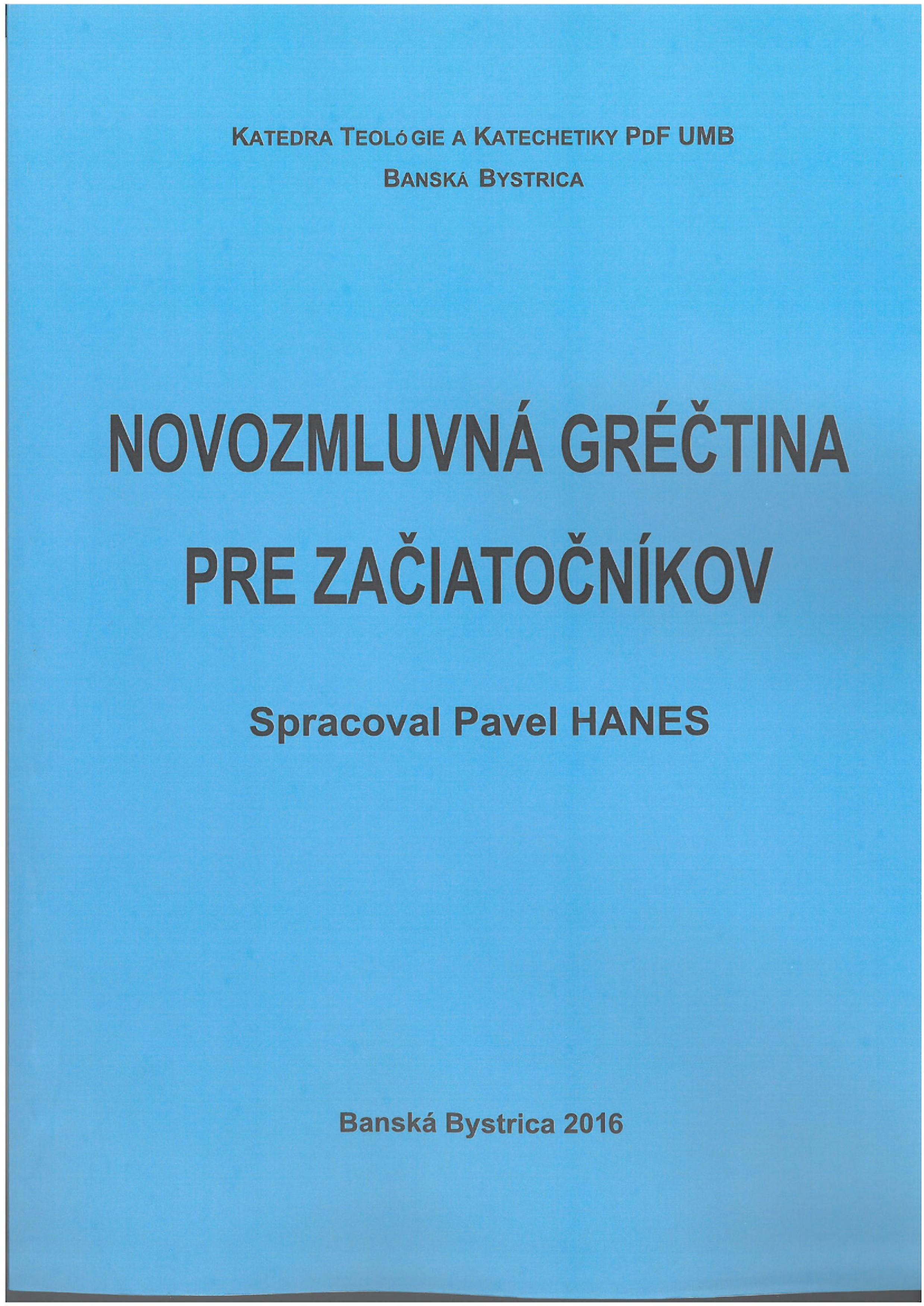 Novozmluvná gréčtina pre začiatočníkov