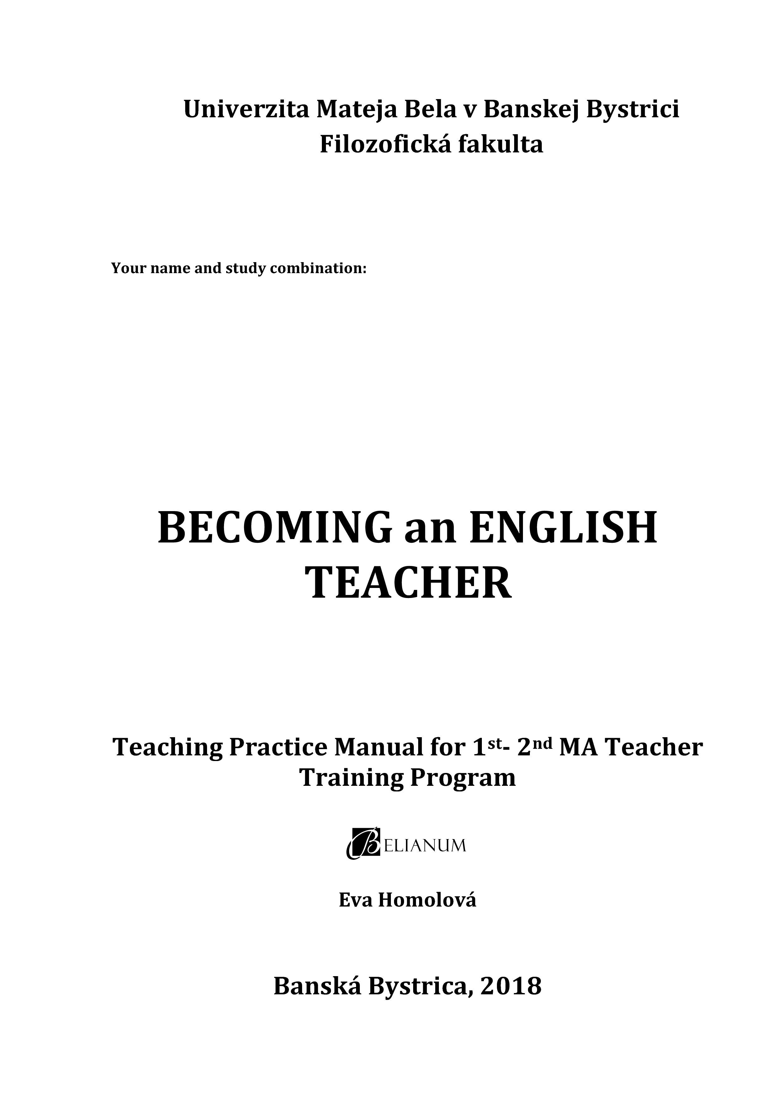 Becoming an English Teacher