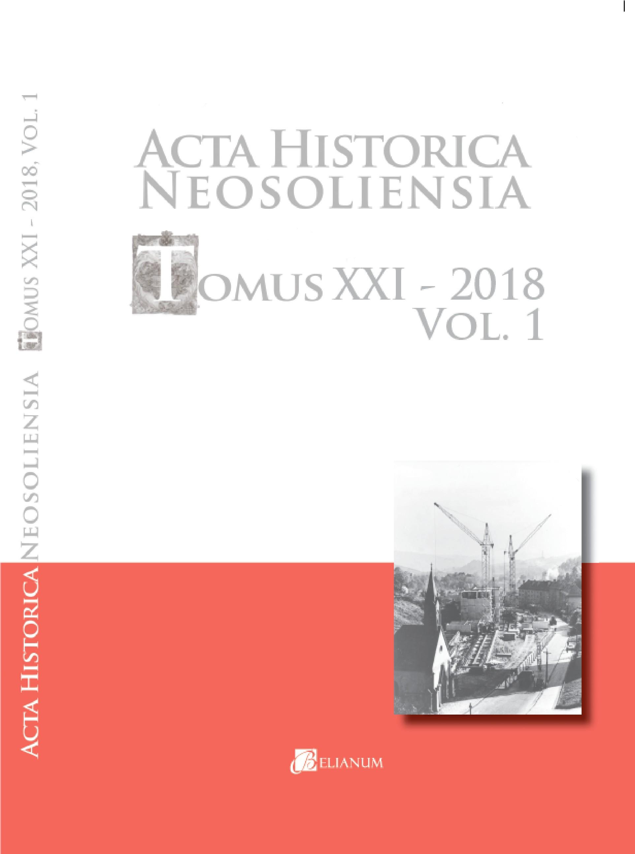 Acta historica neosoliensia, 21/2018, Vol. 1