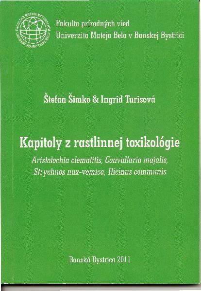 Kapitoly z rastlinnej toxikológie